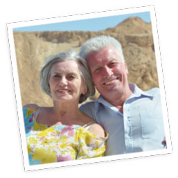 Older couple who bought their apartment in Nerja with Second Home Andalusia